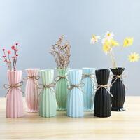 Modern Matt Ceramic Home Decor Glazed Hemp Rope Flower Vases Wedding Decoration