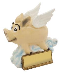 Flying Pig Novelty Trophy