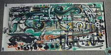 ANDREW TURNER 6' Green Modern Musical Abstract Painting Africa American Signed