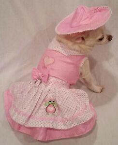 Harness Dress/Dog Dress/Dog clothes/Happy Turtle/ Set XS, or  XL FREE SHIP