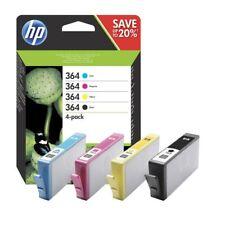 4 Genuine HP 364 Multipack CMYK Inks for PhotoSmart 7510 6510 5515 5524 b109