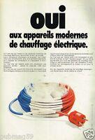 Publicité advertising 1978 Le Chauffage electrique