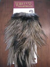Fly Tying-Whiting Coq de Leon Bronze Rooster Saddle Medium Pardo #K