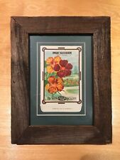 Barnwood framed lithograph seed package