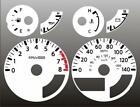 2005-2007 Xterra Pathfinder Frontier Dash Cluster White Face Gauges 05-07