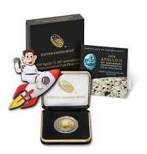 2019 W Apollo 11 50th Anniv. $5 Gold Uncirculated Coin w/ Box & COA (#30011)