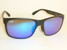 Authentic Polarized MAUI JIM RED SANDS  Sunglasses Matte Black B432-2M Blue Lens