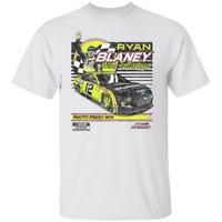 Men's #12 Ryan Blaney Vintage Nascar Car 2020 White T-shirt S-5XL