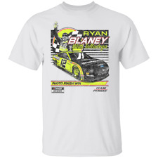 Men's #12 Ryan Blaney Vintage Nascar Car 2020 White T-shirt S-5XL