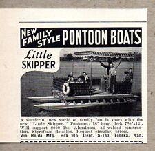 1960 Print Ad Vio Holda Little Skipper Pontoon Boats Topeka,KS