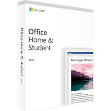 Microsoft Office 2019 Home and Student PC MAC Vollversion Neu Original