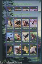 Rwanda 2009 MNH Perf+Imperf SS, Eagles Owls Birds of Prey, Raptors