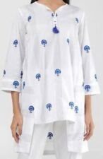 Pakistani/Indian Cotton Kurta Lollypop White Crown