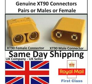 XT90 Connectors Male Female Pair Battery lipo Cable Ebike Electric Bike Scooters