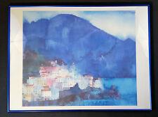 Original Kunstdruck RALF WESTPHAL  Amalfi Golf von Salerno 60x80cm