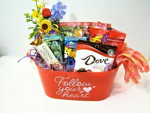 Gardening Lovers Herb Flowers Gift Basket w/Greeting Card Birthday Get Well more