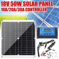 50W 12V Solar Panel Mono Silicon Battery Charger Kit Controller Caravan Camping