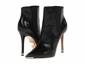 Michael Kors Women's Andie Black Leather Ankle Boots Size 8