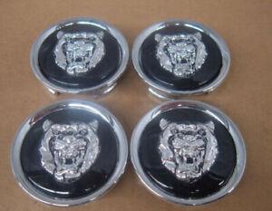 Jaguar Black Wheel Badge Emblem Center Hub Cap Set Of 4 MXD6249CA Fits 1988-2012