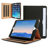 Black/TAN Leather Smart Stand Case Cover For Apple iPad 10.2 Air Pro 10.5 2/3/4