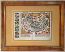 Hochwertiger FAKSIMILE-DRUCK der Weltkarte aus der Schedel Weltchronik von 1493!