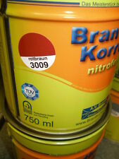 Brantho Korrux nitrofest Rostschutz 750ml Metallschutzfarbe RAL 3009 rotbraun