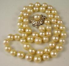 Schöne Echt Perlen Kette 585 Gold Verschluss