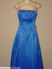 Niki Livas Blue Prom Pageant Evening Long Formal Gala Gown Dress Size 2