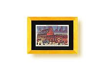 Postcard Display Frame & Mat For 1 Vintage / Antique 3-1/2 x 5-1/2 Card GOLD/SLV
