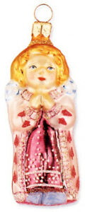 Slavic Treasures PRAY ANGEL Polish Glass Ornament