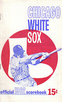 1962 baseball program, Chicago White Sox vs. Cleveland Indians, unscored