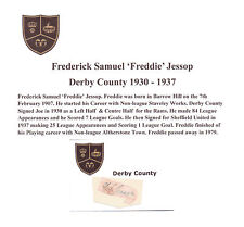 Freddie Jessop DERBY COUNTY 1930-1937 rara mano originale firmato TAGLIO / CARD