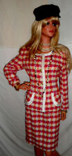 ooohh la la High End Fashion Designer Skirt Suit $1,795 sz8 Colorful Tweed NWOT!