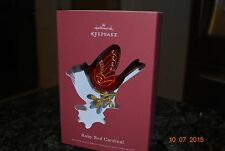 2015 Hallmark Ruby Red Cardinal The Beauty of Birds Premium Keepsake Ornament