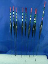 9 Galleggianti Alan 1,5 - 2,5gr lunghi asta multicolor pesca lago fiume mare G14
