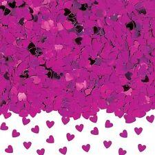 Sparkle Hearts Hot Pink Metallic Confetti 14g