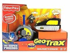 FISHER PRICE GEOTRAX BATMAN ENGINE GEO TRACKS REMOTE CONTROL TRAIN COLLECTOR TOY