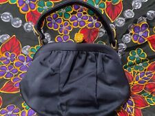Koret Fancy Evening Bag Navy with Gold & Rhinestones
