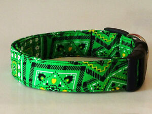 Charming Green & Yellow John Deere Bandana Dog Collar