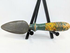 Vintage Norton Abrasives Crystolon Knife Sharpener stone #273-A Green Handle Vtg