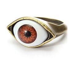 Fashion Retro Evil Eye Eyeball Finger Ring For Women Funny Punk Gothic Jewelry