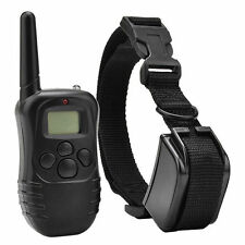 LCD Electric 100LV Levels Shock Vibra Pet Dog Training E-Collar Remote Control