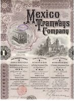 Mexico Tramways Company  1912   uncancelled / Coupons