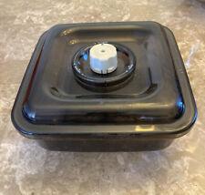 FoodSaver Vacuum Seal Canister Smoke Gray TILIA Square Marinator #663 2 1/4 Qt
