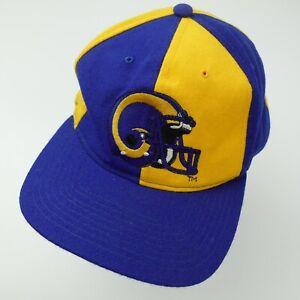 Los Angeles Rams Football Starter Pinwheel Cap Hat Snapback Baseball Adult VTG