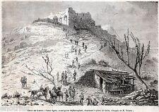 Assedio di Gaeta: Avamposto Bersaglieri sul Colle Sant'Agata. Risorgimento. 1860