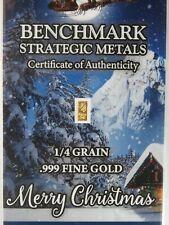 Gold 1/60 Gram Pure .999 Fine 24k Gold Christmas Bar 3mm X 6mm a8