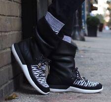 Women's Nike Roshe Two Hi Flyknit Boots -861708 002- $225 Sz 7-7.5 Black White