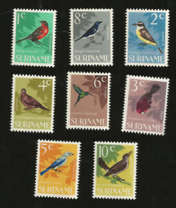SURINAM SC 323-339, 1966 Birds issue, full set of 8. MNH