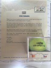 Almagro vs. Stepanek 2012 US Open MATCH POINT Used Tennis Ball - MEIGRAY LOA